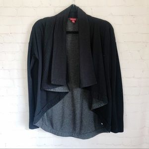 💐5/$25!💐Merona] black waterfall open cardigan L